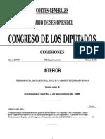 Diario de Sesiones Congreso de los Diputados España