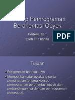T1 - Konsep Pemrograman Berorientasi Obyek