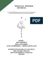 Mengolah Makanan Indonesia Sella
