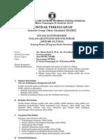 (2) Kontrak Perkuliahan--Isues Kontemporer ASP 2011