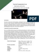 A Nonverbal Communication Lesson [Lesson Plan Version] (Dilek Eryilmaz, Steve Darn)