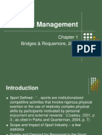 Sport Management, Chapter 1