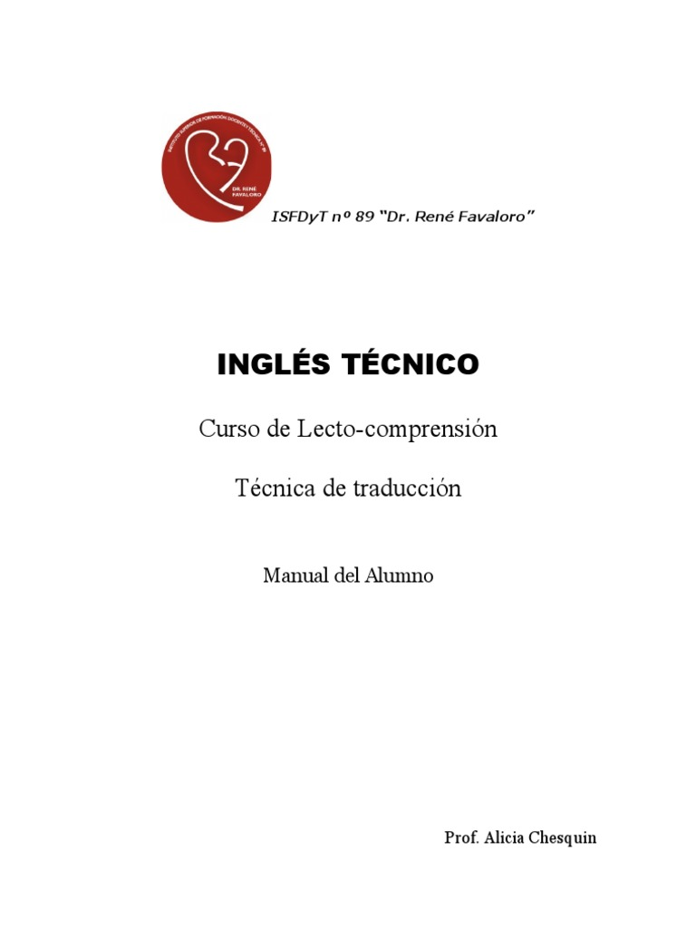 Inglés técnico teoría