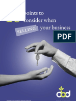 10 Points to Consider When Selling Your Business
