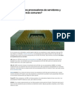 Cuáles son los procesadores de servidores y arquitecturas más comunes