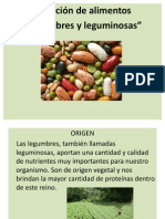 legumbres y leguminosas