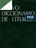 Nuevo Diccionario de Liturgia (II)