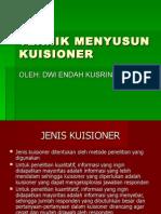 TEKNIK MENYUSUN KUISIONER (1)