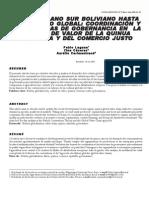 Laguna Pablo, et al. 2006. Del Altiplano Sur boliviano hasta el mercado global Coordinación y … -Agroalimentaria N°22