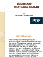 Women and Occupational Health Ppt