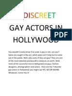 7 Discreet Gay Actors in Hollywood