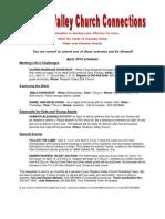 Newsletter, April, 2012