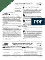 f4868 2011 Tax File Extension