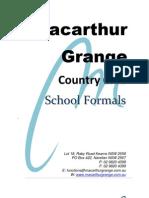 School Formals Package 2012