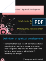 Stage of Children's Spiritual Development CD