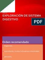 Exploración de sistema digestivo abdomen