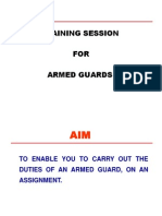 Armed Guard Training