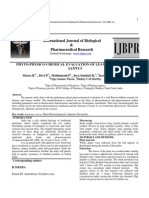 PHYTO-PHYSICO CHEMICAL EVALUATION OF LEAVES OF RAPHANUS SATIVUS