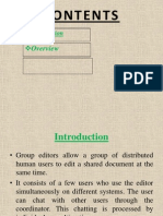 Interactive Group Editor