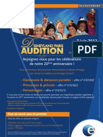 DisneyLand Paris - Recrutement Nice-Auditions 7 Juin 2012