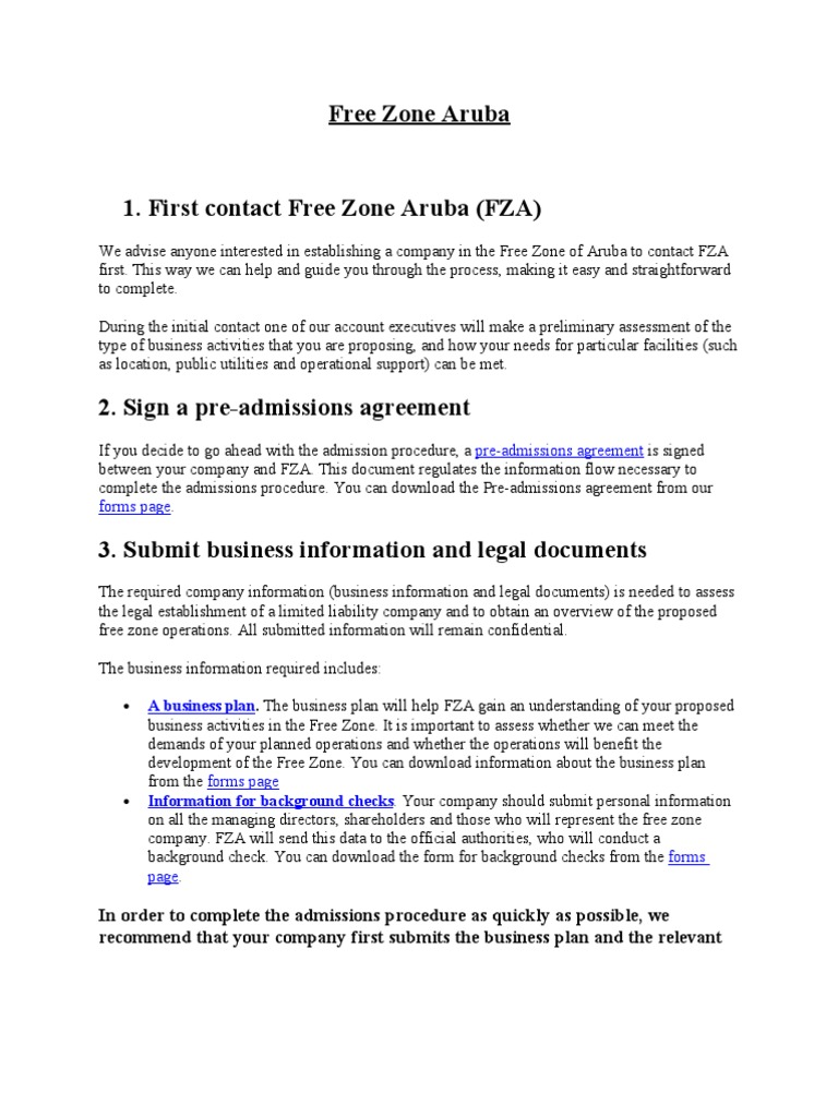 Free Zone Aruba Notary Public Legal Personality - Legal will documents for free