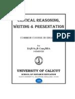 Critical Reasoning Writing Presentation