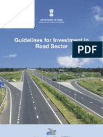 Guidelines for Investment in Road Sector (as on 31 Mar 2012)