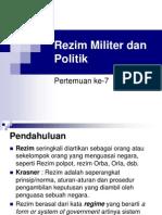 Rezim Militer Dan Politik