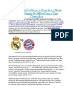 Real Madrid Vs Bayern Munchen | Hasil Pertandingan Semifinal Leg 2 Liga Champion