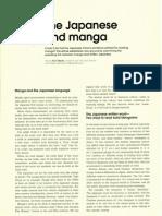Manga and Japanese Language