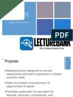 LectureBank Major Qualifying Project Presentation