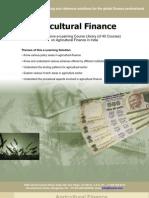 Agriculture Finance Brochure