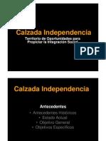 Calzada Independencia 20 Julio