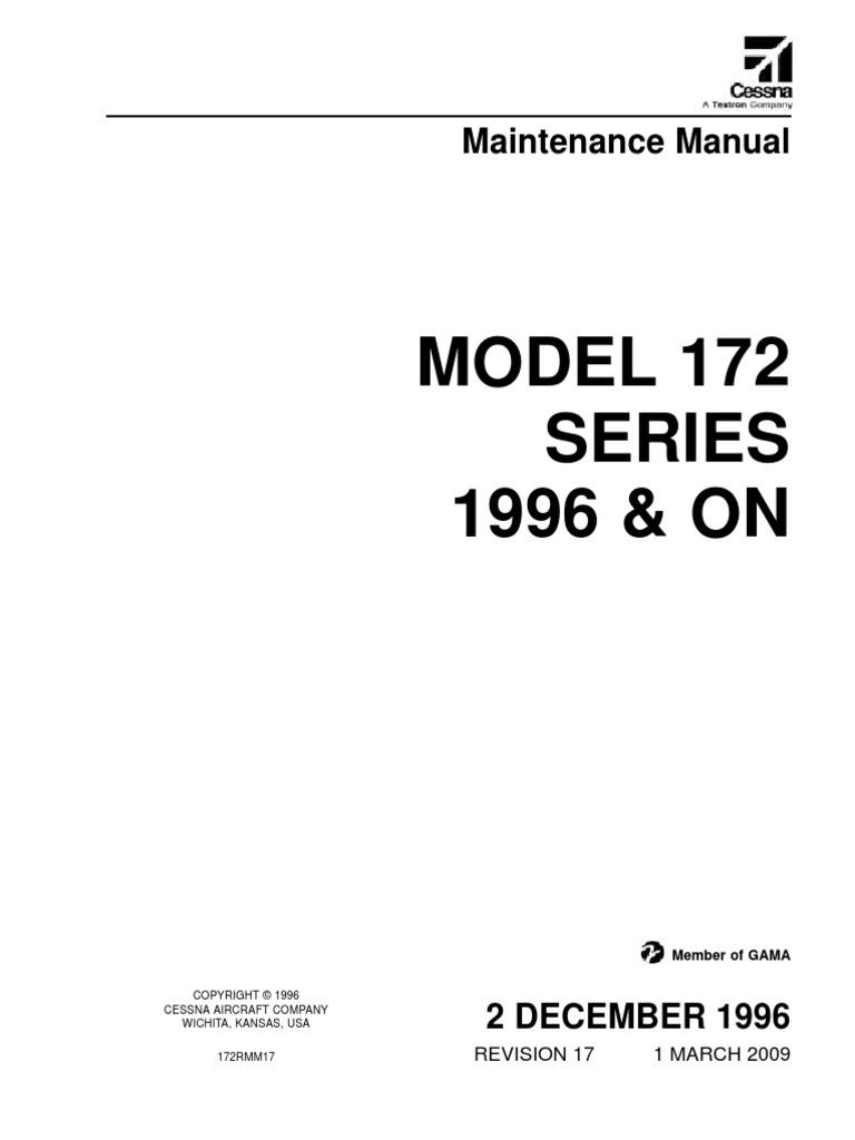 Cessna 172 Amm Airplane Aeronautics Schematic Audio Amplifer With Ic An315