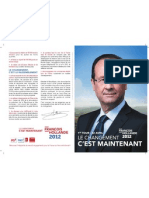 Profession de foi de François Hollande