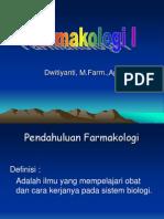 (Bahan Ajar) Pendahuluan Farmakologi I 2011