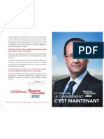 Profession de foi de Francois Hollande 2eme Tour