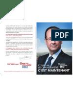 Profession de foi de Francois Hollande 2eme Tour