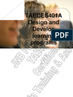 TAEDES401A Design and Develop Learning Programs
