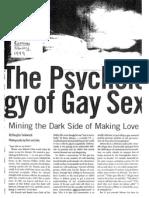"""Douglas Sadownick's """"Psychology of Gay Sex"""""""