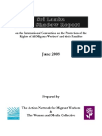 (Jun2008) the Sri Lanka NGO Shadow Report on the International Convention on the Protection of the Rights of All Migrant Workers and Their Families