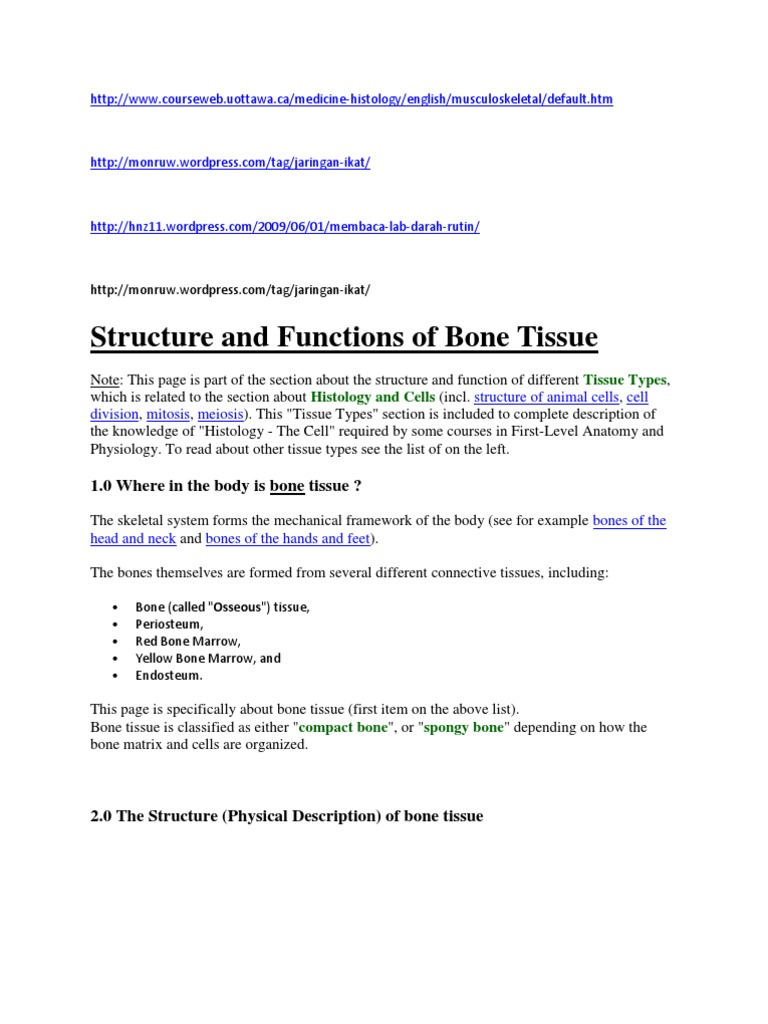 Http | Bone | Tissue (Biology)