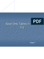 Read-Only Tables in Oracle 11g