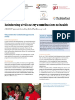 Reinforcing civil society contributions to health