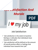Job Satisfaction and Morale