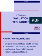 A Review of Valuation Tech - 13-1-09