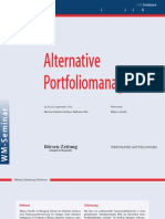 Alternative Portfoliomanagement Workshop 2012 DE