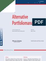 Alternative Portfoliomanagement Workshop 2012 DE