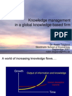Knowledge Management in a Global Knowledge-based Firm