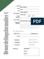 beoordelingsformulier CKV lakenhal